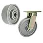 Cast iron wheels for high loads