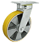 Aluminium-and-polyurethane wheels