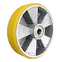 Aluminium-and- polyurethane wheel for high loads